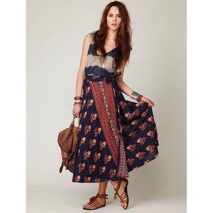 Free People Cantina Linen Wrap Skirt